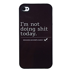 Lazy Day Pattern Aluminous Hard Case for iPhone 4/4S