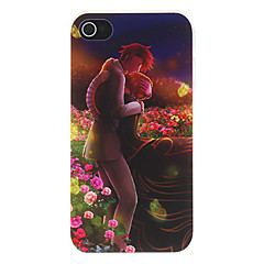 Lover Hugging in Romantic Sea of Flowers Pattern Matte Designed PC Hard Case for iPhone 4/4S