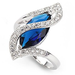 925 Silber-Kupfer Zirkon Ring Mode