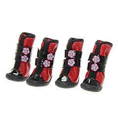 Calcetines y Botas para Perros / Gatos Rojo / Azul Invierno XS / S / M / L / XL Algodón / Cuero PU