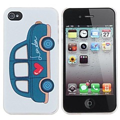 Love Cars Painting Pattern Hard PC Case for iPhone 4/4S