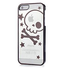 Crânio bonito com teste padrão de estrela caixa de plástico rígido para iPhone 5/5S (cores sortidas)