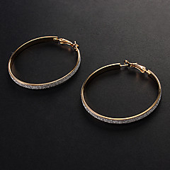 Mode Assorted Color Alloy Hoop Örhängen (guld, silver) (1 par)