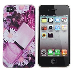 Chrysanthemum Painting Pattern Hard PC Case for iPhone 4/4S