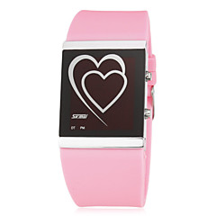 Kvinner Heart Pattern LED Digital silikonbånd Wrist Watch (assorterte farger)