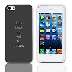 Cas phrase conception rigide avec protection d'écran 3-Pack pour iPhone 5/5S