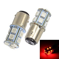 Merdia 1157 13x5050SMD LED Red Light Car Brake / Steering Light (2 Pcs / 12V)