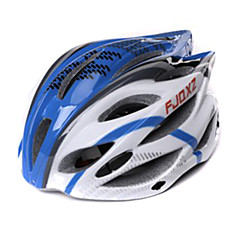 FJQXZ Unisex Outdoor PC+EPS 22 Vents Blue+White Cycling Hlemets