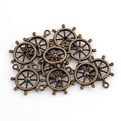 Cute Wheel Shaped Bronze Alloy Charms 10 Pcs/Bag