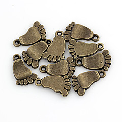 Cute Baby Foot Bronze Alloy Charms 10 Pcs/Bag