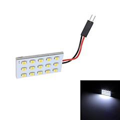 Merdia T10 15x3528 SMD valkoinen LED Reading lamppu lamppu (12V)