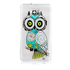 Owl Pattern Silicone Soft Case för Samsung S2 I9100