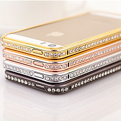 Zircon Inlay Alloy Bumper Frame for iPhone 5/5S(Assorted Color)