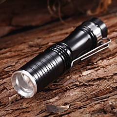 509 Adjustable Focus 3-Mode 1xCree XP-E R2 Waterproof LED Flashlights(1xAA,150LM)Black