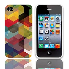 Geometric Design Hard Case with 3-Pack Screen Protectors for iPhone 4/4S