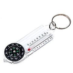 Compasso chaveiro com termômetro-Branco
