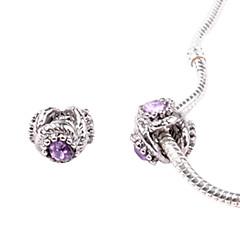 alliage violet clair whorled grands trous des perles de bricolage pour collier ou un bracelet