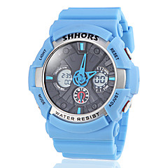 Unisex Dual Time Zones Cross Dial Silicone Band Sporty Wrist Watch (Assorted Colors)