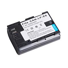 bateria de vídeo digital substituir Canon LP-E6 para marca Canon EOS 5D II e mais (7.4v, 2200 mAh)