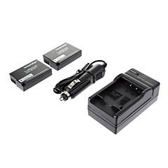 ismartdigi - 파나 DMW-BLD10E (2PCS) 1010mah, 파나소닉 GX1 GF2 G3 DMW-BLD10 BLD10E위한 7.3V 카메라 배터리 + 차량용 충전기