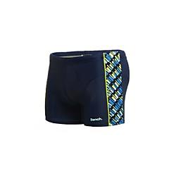Heren Printing Nylon Spandex gevoerd Rubber Print Logo Boxers Swim Shorts