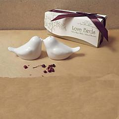 Pájaro del amor Diseño de Cerámica Sal y Pimienta (1 PCS)