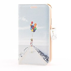 Colorful Balloon Style PU Leather Case with Card Slot and Stand for Samsung Galaxy Grand Duos i9082