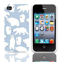 Polar Bear Pattern Hard Case 3-Pack Näytön suojainten iPhone 4/4S