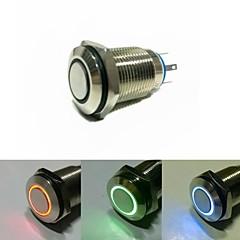 16mm enclavamiento del interruptor de botón de la CC 12V del ojo del ángel (entrega al azar)