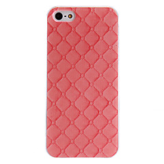 Pink Diamond Pattern PC Hard Case with Transparent Frame for iPhone 5/5S