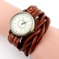 Women's Vintage Long Twine Leather Band Quartz Analog Wrist Watch (Assorted Colors) Cool Watches Unique Watches