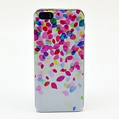 O teste padrão colorido Pétalas Hard Case para iPhone 5/5S