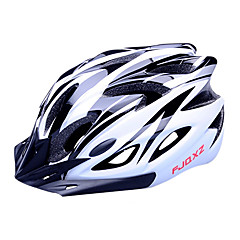 Casco da bicicletta FJQXZ EPS + PC in bianco e nero Integralmente-stampato (18 Vents)