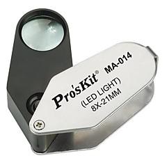 Pro'sKit MA-014 8x LED iluminado lupa (ø21mm)