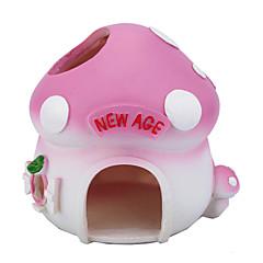 Søt Resin Mushroom Sweet Home Crib Hus for Hamstere Chinchillaer
