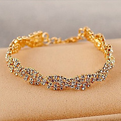Korean Delicate Claw Chain Crystals Bracelet