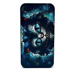 Retro Growing Cat Cartoon Pattern PC Hard Case for iPhone 4/4S