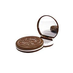 6.5 * 6.5 * 1.2 cm Çikolata Kozmetik Ayna