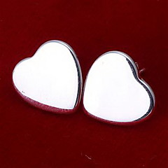 Earring Heart Stud Earrings Jewelry Party / Daily / Casual Alloy Silver