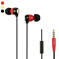 Moda AWEI Q38i enchufe de 3.5mm en la oreja de aleación de aluminio Super Bass auriculares-(cuatro colores)