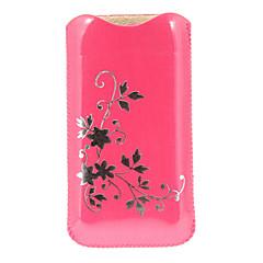 Flower Pattern PU Bolsa em Couro para iPhone 5/5S e Outros (cores sortidas)