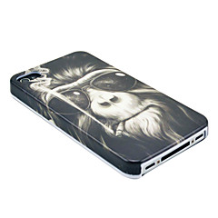 Smoking Monkey Pattern Hard Case for  iPhone 4/4S