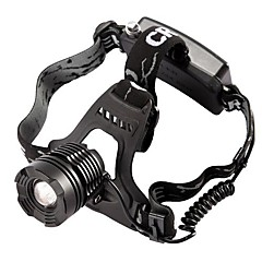 800 Lumen CREE XM-L T6 XML LED recarregável Farol Zoomable Farol Zoom in / out