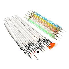 20st nagel konst Suits (15st nagel konst Painting Brush Kit & 5st 2-Way nagel konst Öronmärkningar Verktyg Kits)