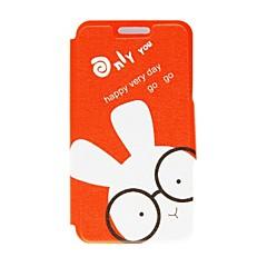 Kinston Brille Kaninchen Muster PU-Leder Ganzkörper-Case mit Ständer für Samsung Galaxy Note N7100 2