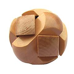 Wooden IQ Brain Teasr Ball Shaped Pull-Apart IQ Puzzle Magic Cube