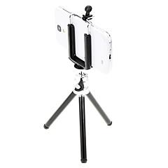 מחזיק אני-11-BK מיני שולחני אלומיניום חצובה עם סעיפים פעמיים סיפון שלושה (שחור) וטלפון סלולרי חצובה הר