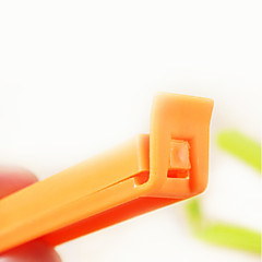 Plastic Candy Color Sealing Clip(5Pcs,Random Color)