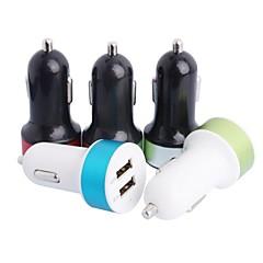 Chargeur de voiture ronde portable pour iPhone / iPad / iPod (2xUSB 2.0, 5V 3.1A)