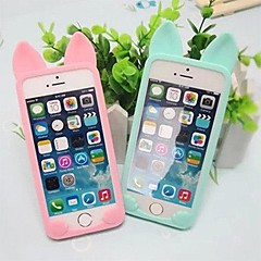 Cute Cat Custodia in silicone morbida per iPhone 5/5S (colori assortiti)